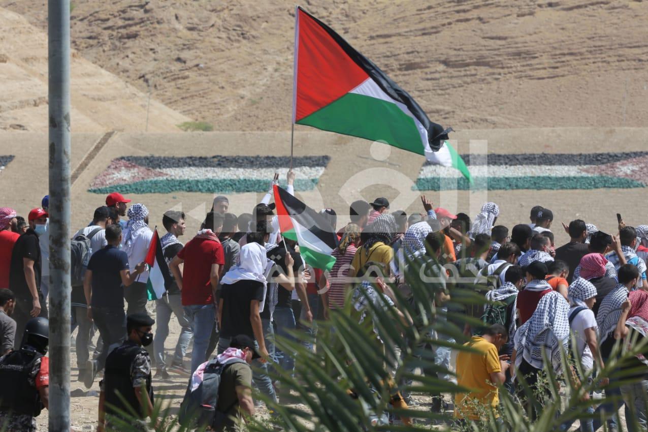 14000225000574 Test NewPhotoFree - صدها اردنی  در دومین روز متوالی به سمت مرزهای فلسطین حرکت کردند+فیلم