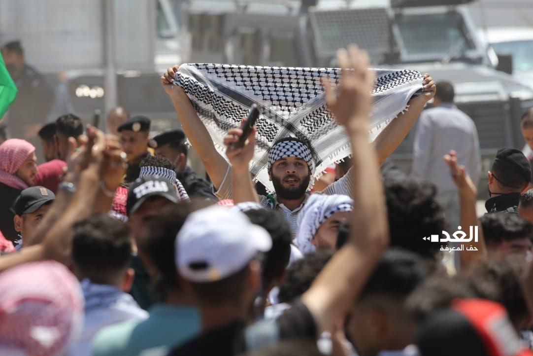 14000225000576 Test NewPhotoFree - صدها اردنی  در دومین روز متوالی به سمت مرزهای فلسطین حرکت کردند+فیلم
