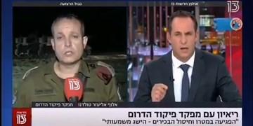 موشک مقاومت، فرمانده ارشد صهیونیست را در پخش زنده فراری داد+فیلم