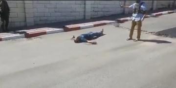 شهادت جوان فلسطینی در نزدیکی مسجد ابراهیمی در الخلیل + فیلم