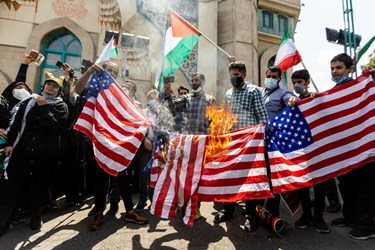 تجمع  خودجوش دانشجویان تهرانی در حمایت از مردم فلسطین - میدان فلسطین
