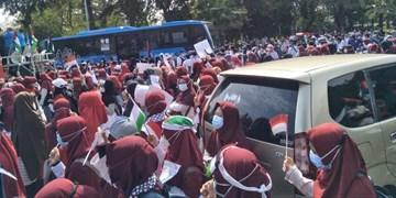 مردم اندونزی هم به جمع معترضان به رژیم صهیونیستی پیوستند+عکس