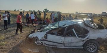 واژگونی پژو و مجروح شدن ۱۱ نفر در گلستان