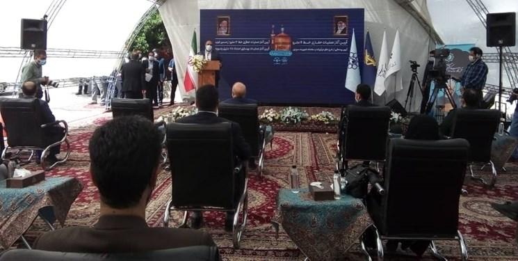 عملیات حفاری تونل خط چهار قطار شهری مشهد با حضور رییس مجلس شورای اسلامی آغاز شد