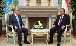 دیدار روسای جمهور تاجیکستان و قزاقستان؛ توسعه و گسترش روابط محور مذاکرات