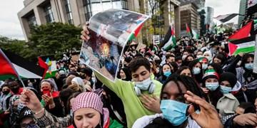تظاهرات گسترده در واشنگتن، برلین و بلژیک در حمایت از فلسطین+فیلم