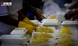 کمک مومنانه دانشجویان بسیجی قزوین با توزیع غذای گرم