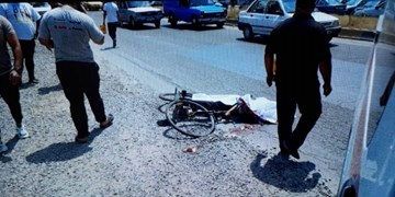 دوچرخه سوار طبسی در برخورد با تریلی جان باخت