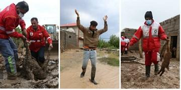 خسارت تگرگ و سیل به 30 روستای شهرستان اهر+ تصاویر