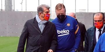 جلسه سرنوشت ساز بارسلونا با کومان؛ ابقا یا اخراج روی میز لاپورتا