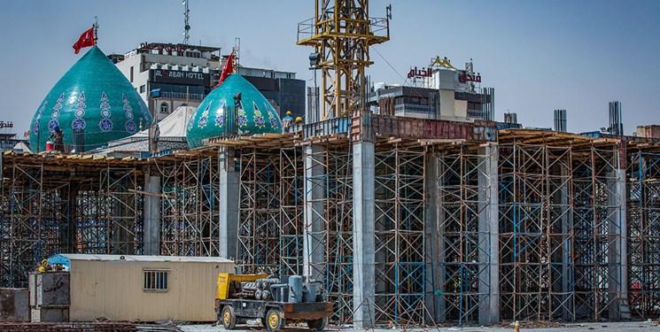 پیشرفت ۸۰ درصدی سازه بتنی صحن حضرت زینب(س) در کربلا به روایت تصاویر
