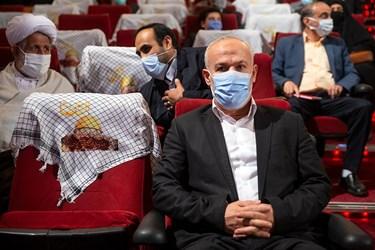 ناصر ابوشریف  نماینده جنبش جهاد اسلامی فلسطین در ایران در مراسم اربعین سرلشکر شهید سید محمد حجازی