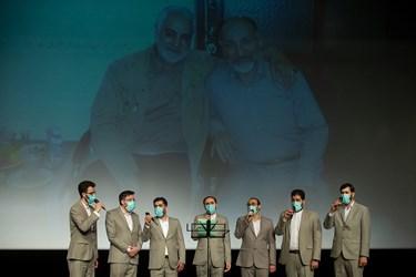 اجرای تواشیح توسط گروه سبحان در مراسم اربعین سرلشکر شهید سید محمد حجازی