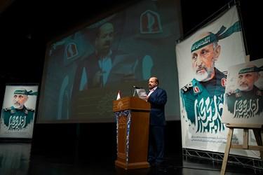 سخنرانی خالد قدومی نماینده جنبش مقاومت اسلامی حماس در ایران در مراسم اربعین سرلشکر شهید سید محمد حجازی