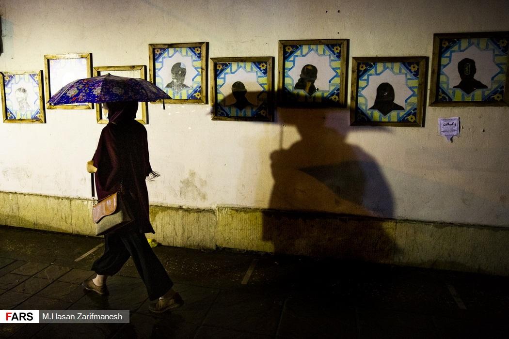 باد و باران شدید در پایتخت - خیابان انقلاب