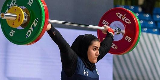 وزنهبرداری جوانان جهان  هشتمی باجلانی در رقابت دسته ۷۶ کیلوگرم بانوان