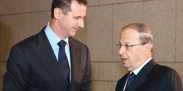 پیام تبریک رئیس جمهور لبنان به بشار اسد