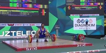 کسب تک مدال برنز بیرانوند در رقابتهای وزنهبرداری قهرمانی جوانان جهان+فیلم