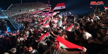 شادی لبنانیها و سوریها از پیروزی «بشار اسد» در انتخابات
