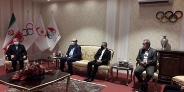 جلسه رئیس کمیته المپیک افغانستان با مقامات ایرانی و برگزاری المپیاد ورزشی با افغانها+ عکس
