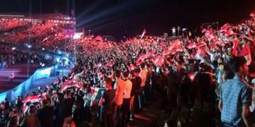 ادامه جشن پیروزی بشار اسد در سراسر سوریه+تصاویر
