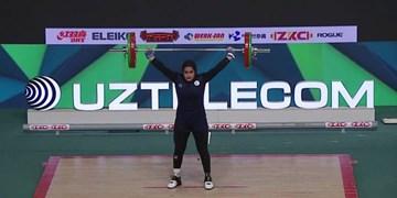 بانوی اصفهانی تاریخ ساز شد/ کسب اولین مدال جهانی تاریخ وزنهبرداری بانوان کشور توسط دختری از نصف جهان