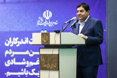 سخنرانی محمد مخبر رئیس ستاد اجرایی فرمان حضرت امام(ره) در آیین بهرهبرداری از طرحهای آبرسانی به ۵۰۰ روستای کشور