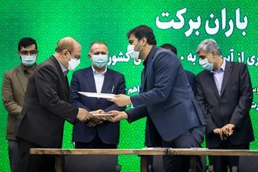 امضای تفاهمنامه میان ستاد اجرایی فرمان حضرت امام(ره) و وزارت جهاد کشاورزی پیرامون احیای ۳۰۰ قنات کشور