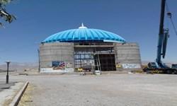 نصب گنبد مزار سردار شهید عارف «حاجعلی محمدیپور» در نوق رفسنجان