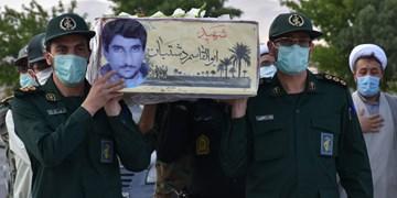 استقبال و بدرقه شهید تازه تفحص شده دفاع مقدس در قوچان