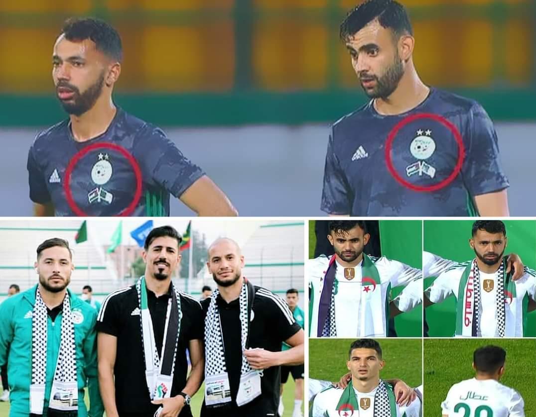 حمایت قهرمان فوتبال آفریقا از فلسطین/الجزایریها با چفیه وارد زمین شدند+عکس