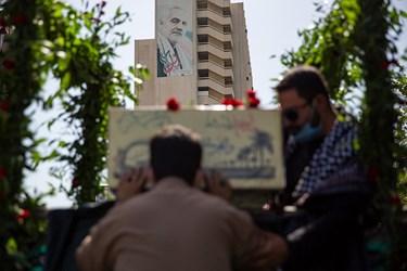 تشییع و تدفین دو شهید گمنام در بوستان اندیشه