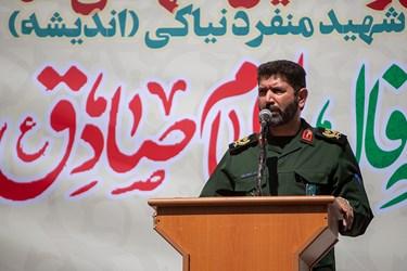 سخرانی سردار حسن زاده در مراسم تشییع دو شهید گمنام در بوستان اندیشه