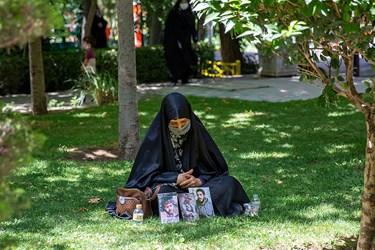 تشییع  دو شهید گمنام در بوستان اندیشه