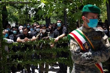 تدفین دو شهید گمنام در بوستان اندیشه