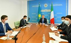 رایزنی وزرای خارجه قزاقستان و ایتالیا؛ تقویت روابط محور گفتوگو