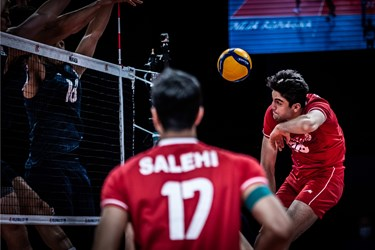 گزارش تصویری از پیروزی والیبال ایران مقابل آمریکا