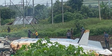 سقوط هواپیمای نظامی در میانمار ۱۲ کشته برجای گذاشت +عکس