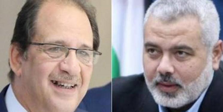 دیدار هنیه با رئیس دستگاه اطلاعاتی مصر در قاهره
