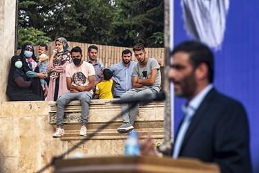 حضور مردم پرشور ساروی و سخنرانی سردار سعید محمد در  اجتماع بزرگ  حامیان آیت الله رئیسی  در بوستان ولایت ساری