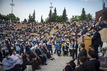 سخنرانی سردار سعید محمد اجتماع بزرگ مردم مازندران حامیان آیت الله رئیسی در بوستان ولایت ساری