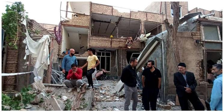 انفجار گاز و تخریب و خسارت  به 11 ساختمان در تبریز