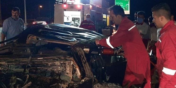۵ کشته و مصدوم در واژگونی سواری دوو در محور قوچان به فاروج