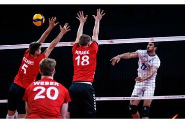 گزارش تصویری از شکست والیبال ایران مقابل آلمان