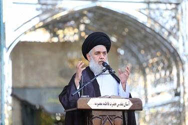 سخنرانی حجت الاسلام والمسلمین سید حسین مومن درآیین تعویض پرچم بارگاه حرم حضرت معصومه(س)