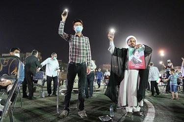 حضور پرشور مردم مشهد در اجتماع بزرگ حامیان آیت الله رییسی در  ورزشگاه تختی مشهد