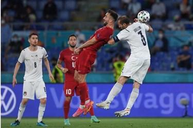 گزارش تصویری از برد ایتالیا مقابل ترکیه در افتتاحیه یورو 2020
