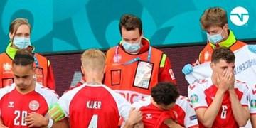 یورو 2020  دیدار دانمارک و فنلاند به تعویق انداخت/اریکسن دچار حمله قلبی شده است؟