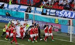 یورو 2020  ادامه دیدار دانمارک و فنلاند امشب برگزار میشود