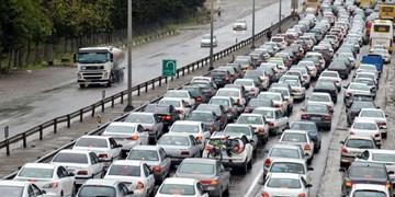 ترافیک سنگین در محور کندوان و جاده قدیم تهران-بومهن/ تردد پرحجم خودرو بین قزوین و تهران